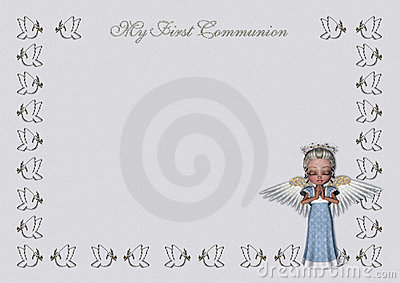 First Communion invitation/menu