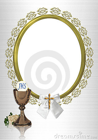 First Communion oval photo frame
