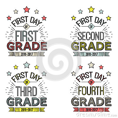 Free First Day Of School Signs. Royalty Free Stock Photography - 73939167