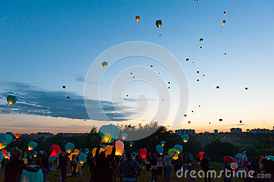 First Day of Summer Festival Editorial Stock Photo