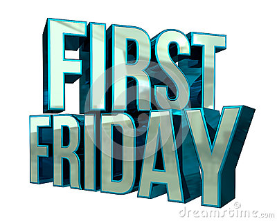 First Friday 3D Text