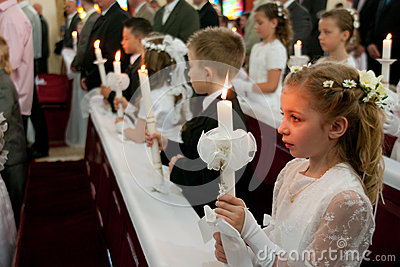 First Holy Communion Editorial Stock Photo