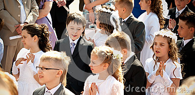 First Holy Communion Editorial Stock Image