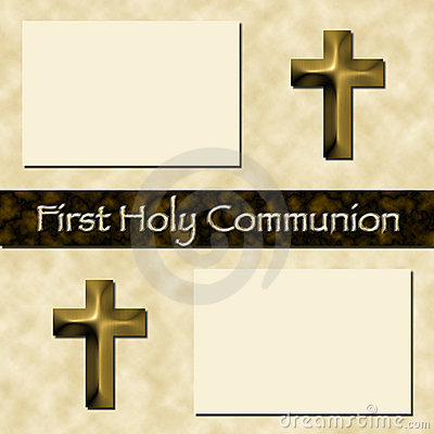 First Holy Communion Scrapbook Page