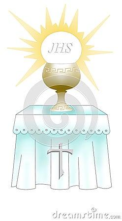 First Holy comunion altar