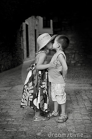 Free First Kiss Stock Images - 13443264