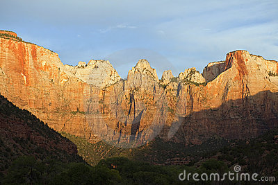 First Light at Zion National Park