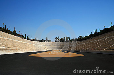 First modern Olympic stadium in Athens Editorial Stock Photo
