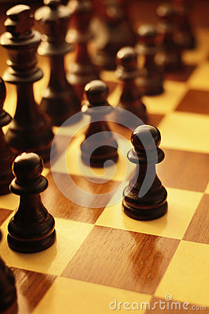 Free First Move In A Game Of Chess Stock Photos - 35244493