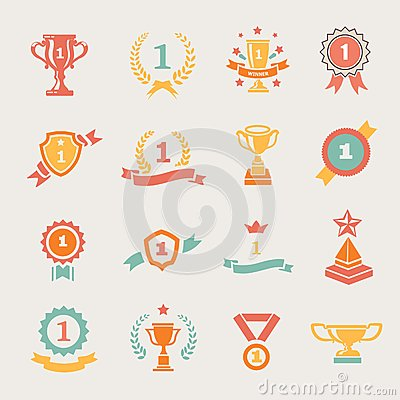 Free First Place Badges And Winner Ribbons Vector Royalty Free Stock Photo - 46961785
