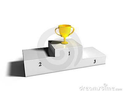 First place Cup on Podium
