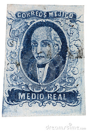 First Postage Stamp of Mexico - 1856 Miguel Hidalgo