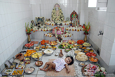 First rice-eating ceremony in India Editorial Image