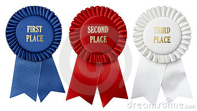 First, second, third place ribbons