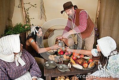First Thanksgiving reenactment