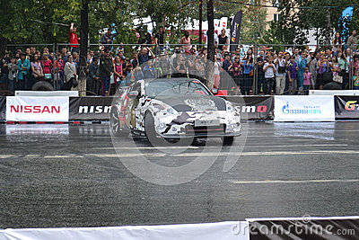 For the first time in Tyumen 18.08.2013 grandiose Nismo G-Drive Editorial Image