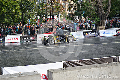 For the first time in Tyumen 18.08.2013 grandiose Nismo G-Drive Editorial Photo