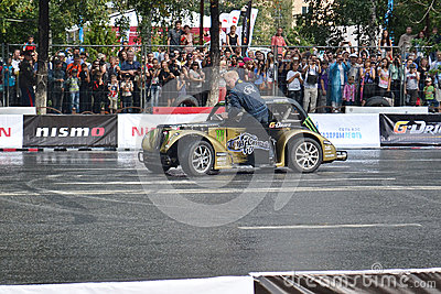 For the first time in Tyumen 18.08.2013 grandiose Nismo G-Drive Editorial Stock Image