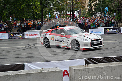 For the first time in Tyumen 18.08.2013 grandiose Nismo G-Drive Editorial Photography