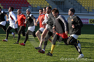 First training of the Catalans dragons Editorial Image