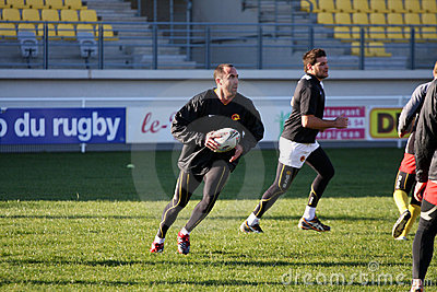 First training of the Catalans dragons Editorial Photography