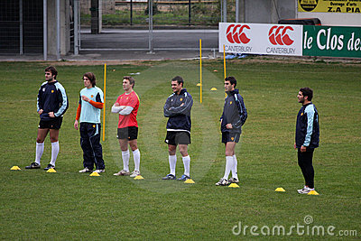 First training of Daniel Carter with the USAP Editorial Image