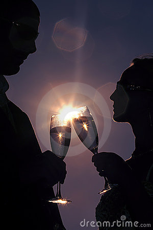 Free First Wedding Toast Royalty Free Stock Images - 19634539