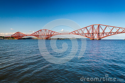Firth of Forth Bridge in sunny day