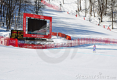 FIS Alpine Ski World Cup  2011/2012 in February 8, Editorial Photo