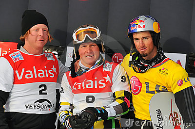 FIS Snowboard World Cup Snowboard Cross Editorial Stock Image