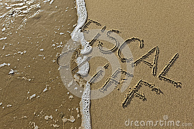 Fiscal cliff in the sand