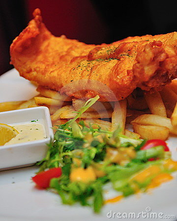 Free Fish And Chips Royalty Free Stock Photos - 16873158