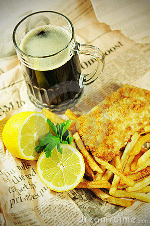 Free Fish And Chips Royalty Free Stock Photos - 19304568