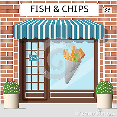 Free Fish And Chips Cafe Royalty Free Stock Photography - 72812627