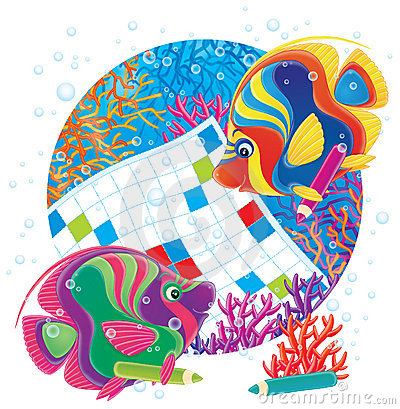 Free Fish And Crossword Stock Images - 3009834