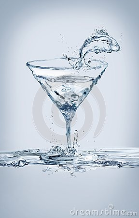 Free Fish And Martini Glass Stock Photos - 115351373