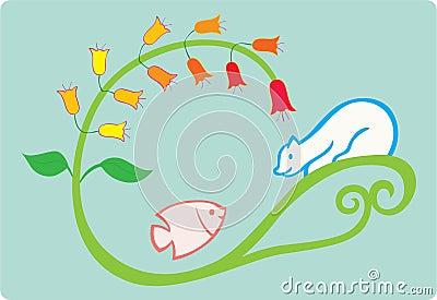 Fish and bear