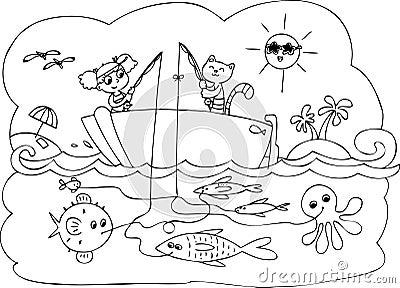 Fish boat game