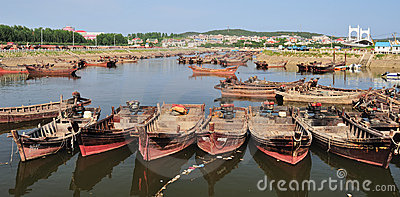 Fish boats Editorial Stock Image