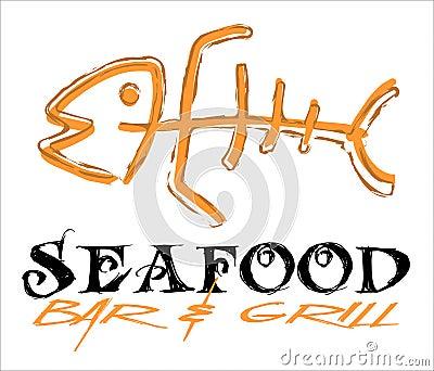 Fish Bone Icon: Vector Illustration