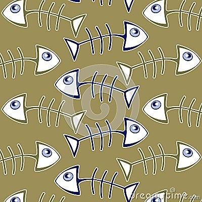 Fish bone pattern