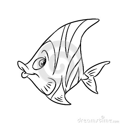Fish-butterfly coloring pages