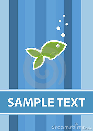 Fish card template