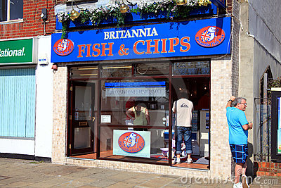 Fish & chip shop Editorial Stock Photo