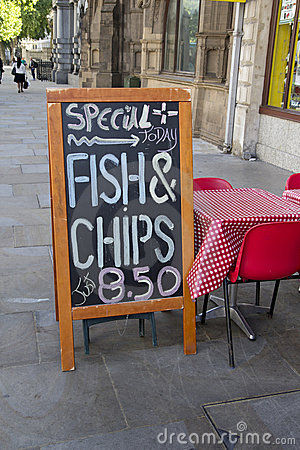 Fish and Chips Menu