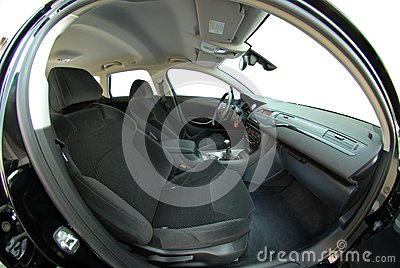 fish eye modern car interior royalty free stock photos image 31241648. Black Bedroom Furniture Sets. Home Design Ideas