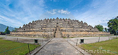 Fish-eye View of Ancient Borobudur Temple