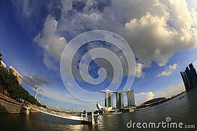Fish eye view of Marina Bay