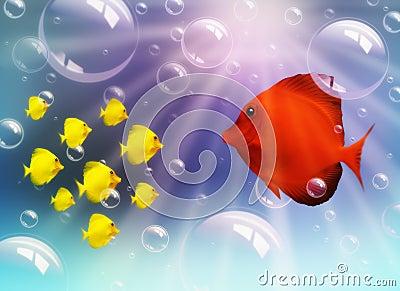 Fish family stock image image 17693461