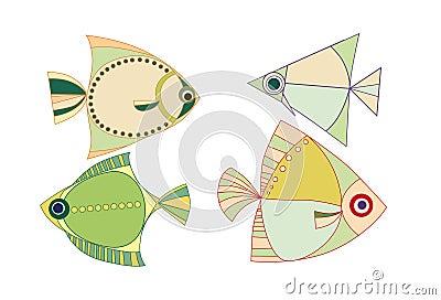 Of fish. fauna. the sea. water